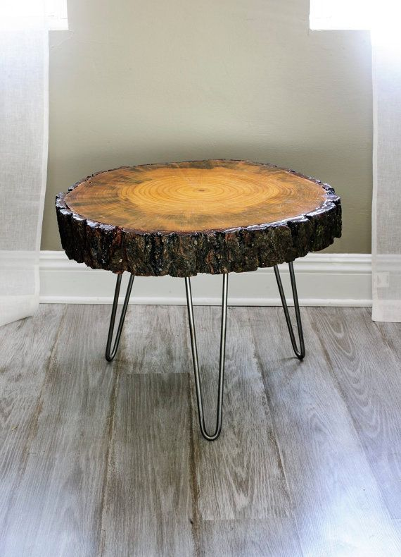 Thing made from wood slices | 24'' wide Tree Slice Coffee Table .