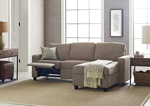 Amazon.com: Serta Palisades Reclining Sectional Sofa with Right .