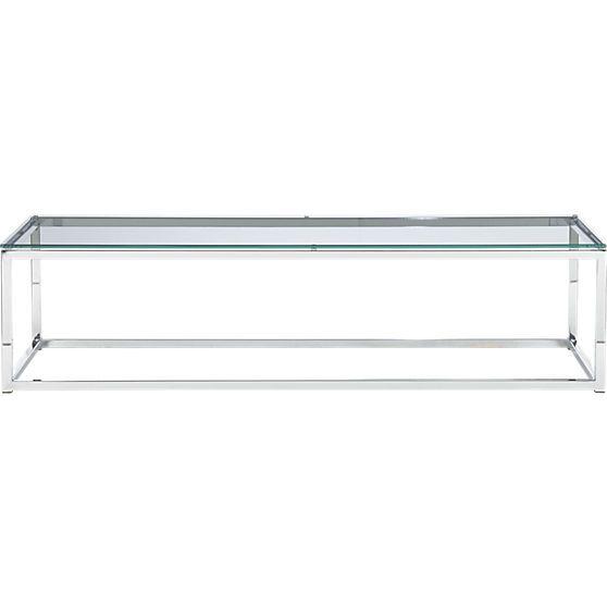 smart glass top coffee table | CB2 | Glass top coffee table, Smart .