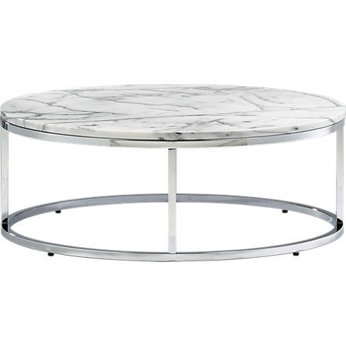 smart round marble top coffee table - C