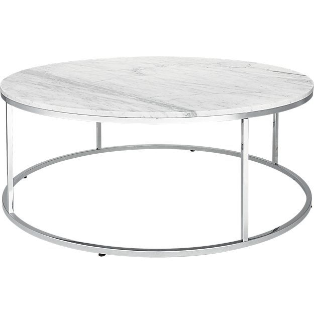 Smart Large Round Marble Top Coffee Table | CB2 | Marble top .