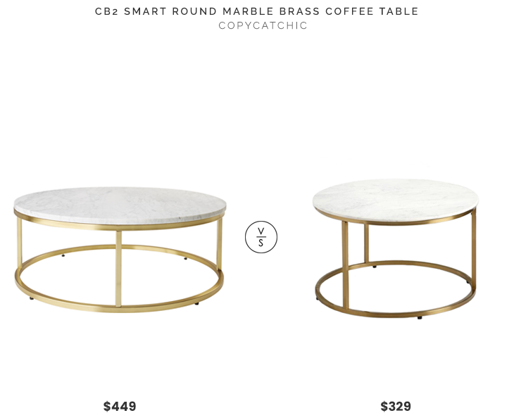 Daily Find | CB2 Smart Round Marble Brass Coffee Table - copycatch