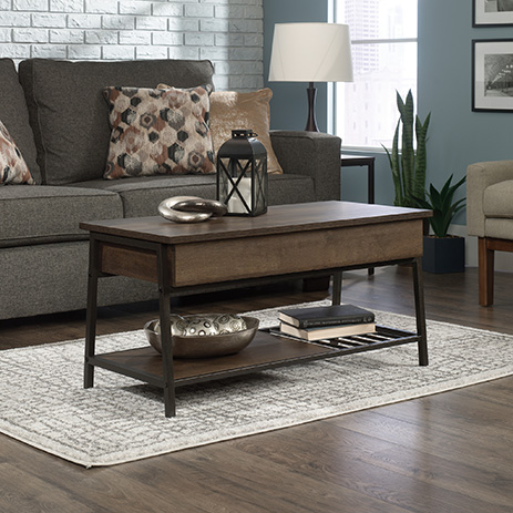 North Avenue Lift-Top Coffee Table Smoked Oak Oak (425076 .