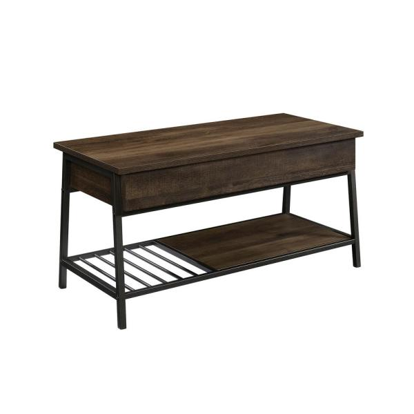 SAUDER North Avenue 18 in. Smoked Oak Lift-Top Coffee Table 425076 .