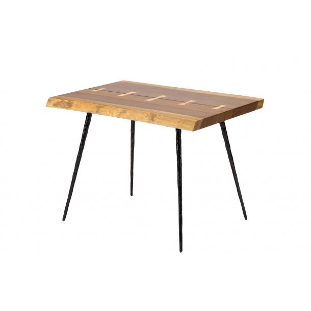 Nexa Smoked Oak Side Table (HGSR610) by Nuevo Livi