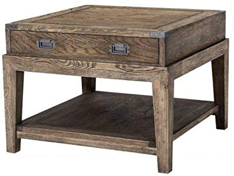 Amazon.com: Wooden Side Table | Eichholtz Military | Rustic Smoked .