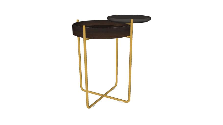 Sylvan Side Table Smoked Oak by Modloft | 3D Warehou