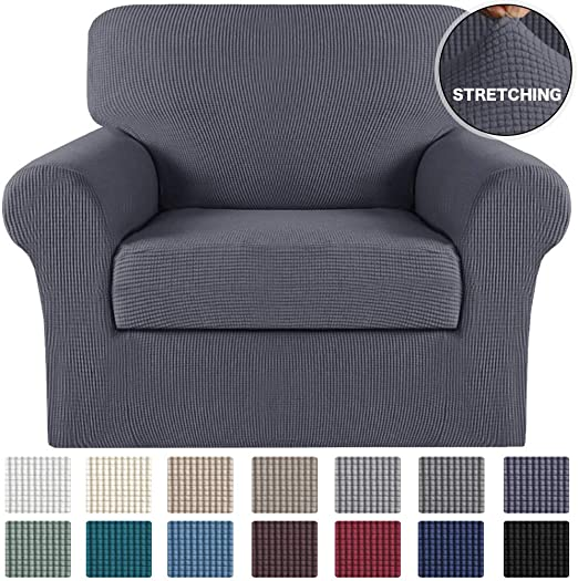 Amazon.com: Turquoize 2 Piece Sofa Slipcover Stretch Chair .