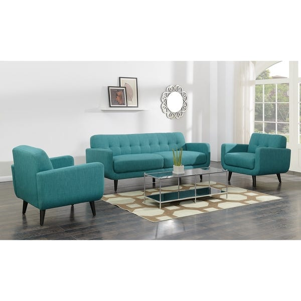 Shop Picket House Furnishings Hailey Sofa & Chair Set in Teal .
