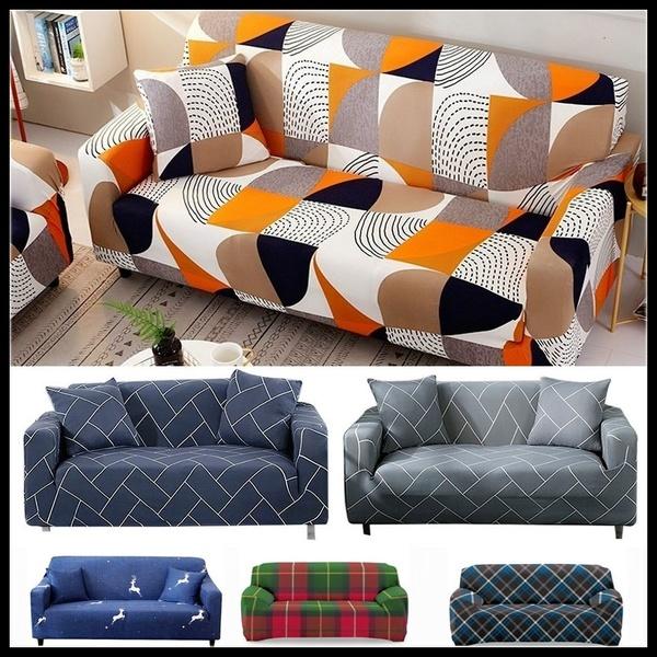 Geometric Sofa Slipcovers Elastic Sofa Cover Armchair Slipcovers .