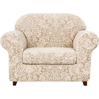 Subrtex 2-Piece Jacquard Damask Sofa Slipcovers Armchair Couch .
