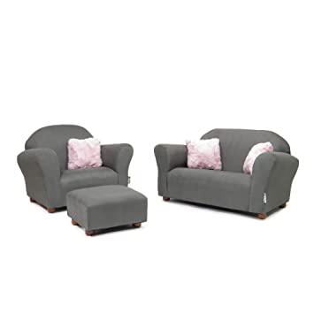 Amazon.com : Keet Plush Childrens Set, Sofa, Chair and Ottoman .