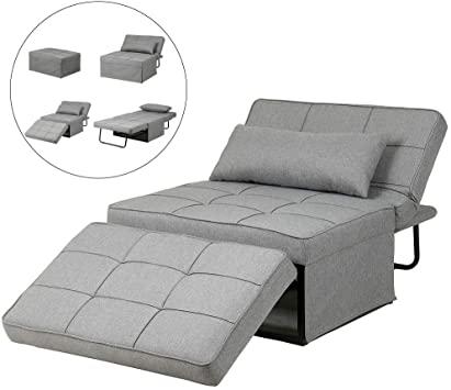 Amazon.com: Diophros Folding Ottoman Sofa Bed, 4 in 1 Multi .