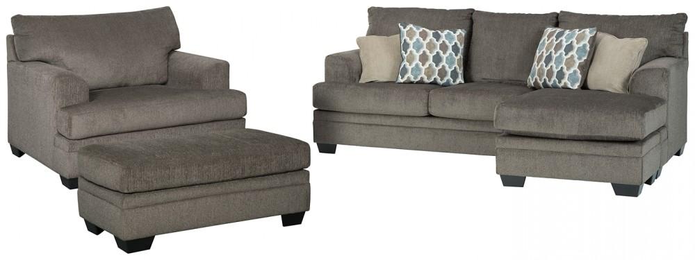 Dorsten - Sofa Chaise, Chair, and Ottoman | 77204/14/23/18 .