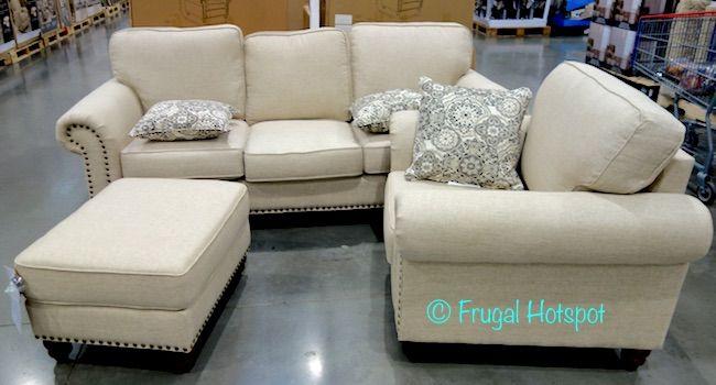 Costco: Synergy Home Fabric Sofa, Chair + Ottoman Set $899.99 .