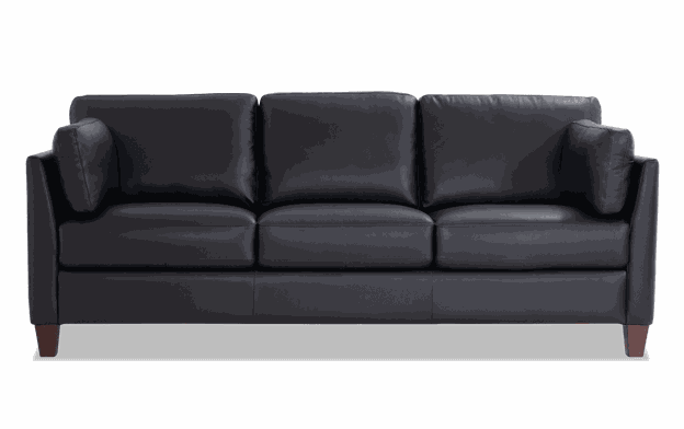 Antonio Black Leather Sofa, Chair & Ottoman | Bobs.c