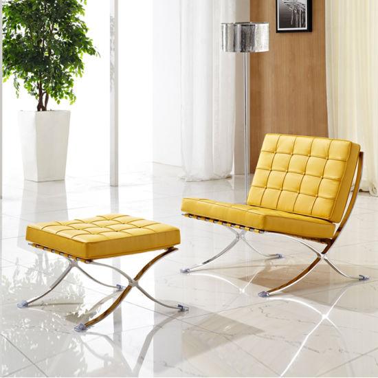 China Modern Leisure Leather Lounge Barcelona Sofa Chair with .
