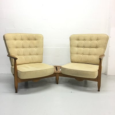 French Sofa Chairs by Guillerme et Chambron for Votre Maison .