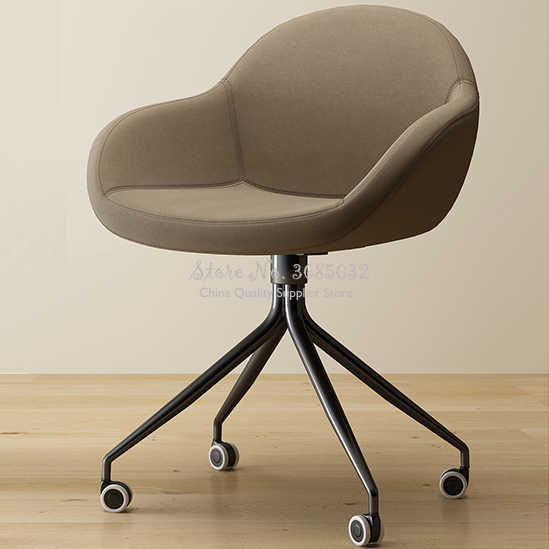 Steel Leg Office Chairs with Wheels Home Living Room Comfortable .