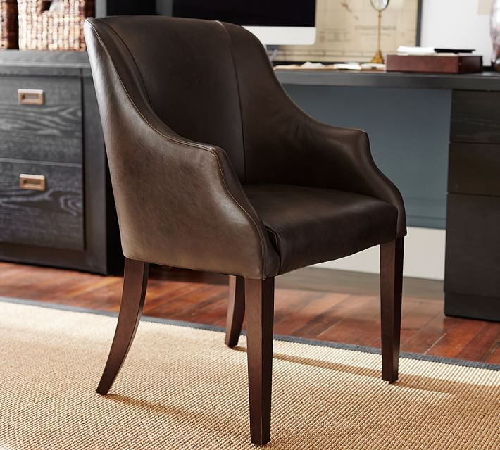 Laurel Leather Desk Chair | Pottery Ba