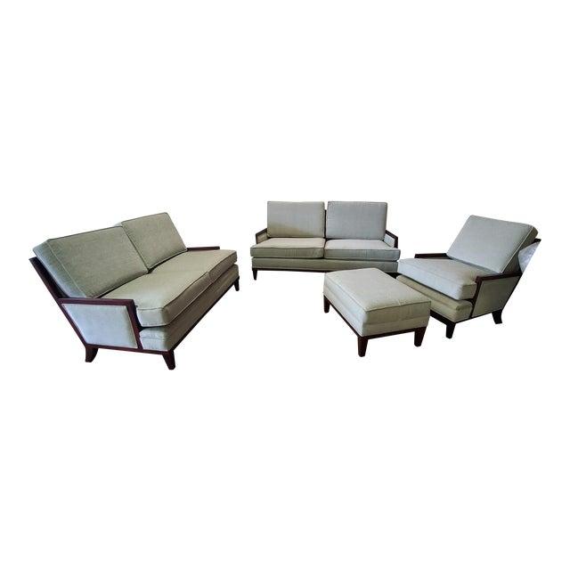 Henredon Barbara Barry Mendicino Walnut Sofa, Loveseat, Chair .