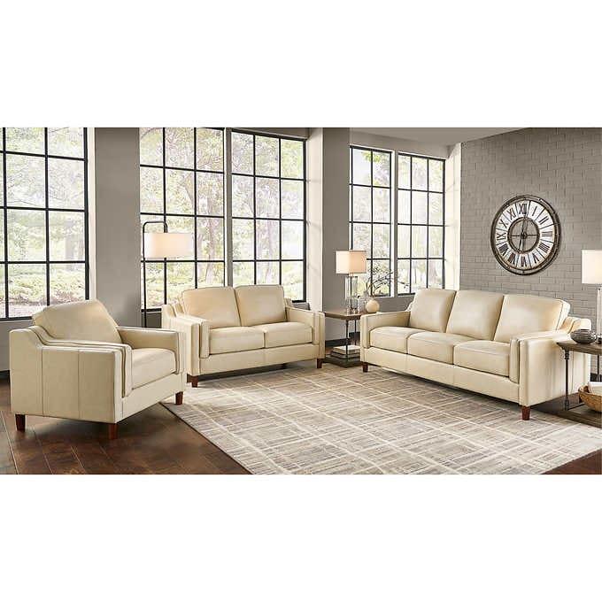Dobson 3-piece Top Grain Leather Set - Sofa, Loveseat, Cha