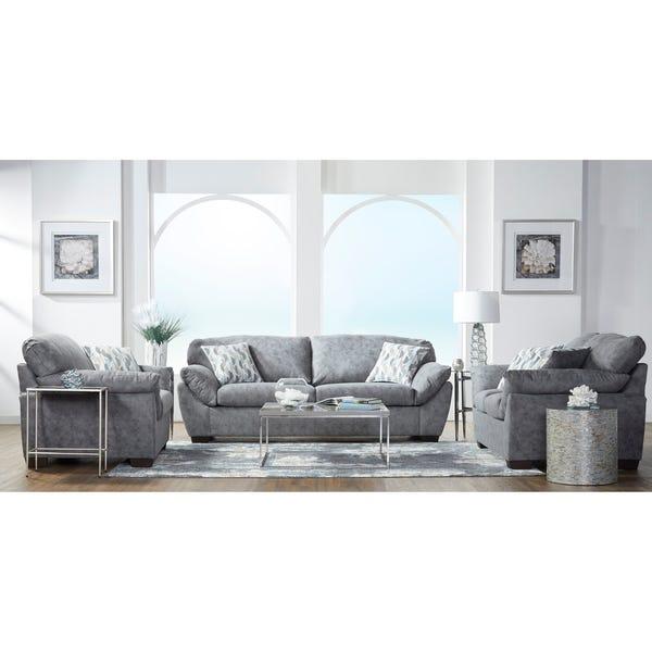 Shop Lore Modern Fabric Pillow Arm Sofa, Loveseat, and Chair Set .
