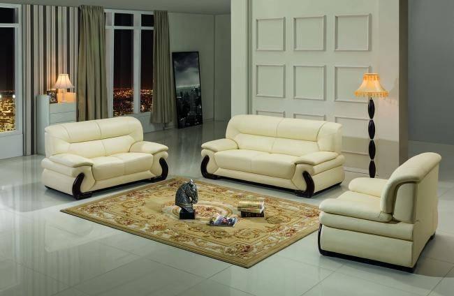 Maxwest P277-BG Modern Beige Genuine Leather Sofa Loveseat and .