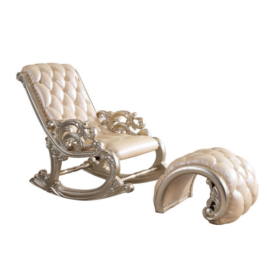 China Leather Rocking Chair with Leather Sofas Ottoman for Home .