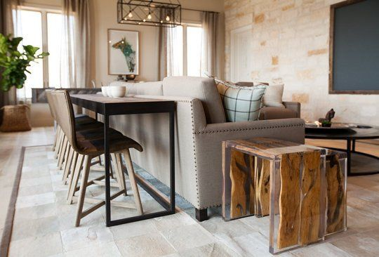 Redefining the Sofa Table: Add Chairs! | Dining room console table .