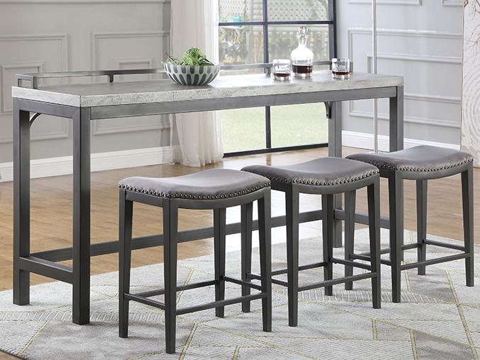 Magnolia 4-Piece Pub Set/Sofa Table/Bar - Bailey's Furnitu
