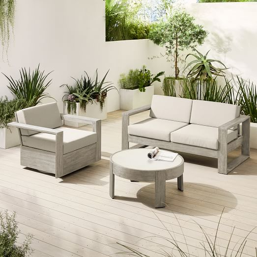 Portside Outdoor Sofa, Swivel Chair & Coffee Table S