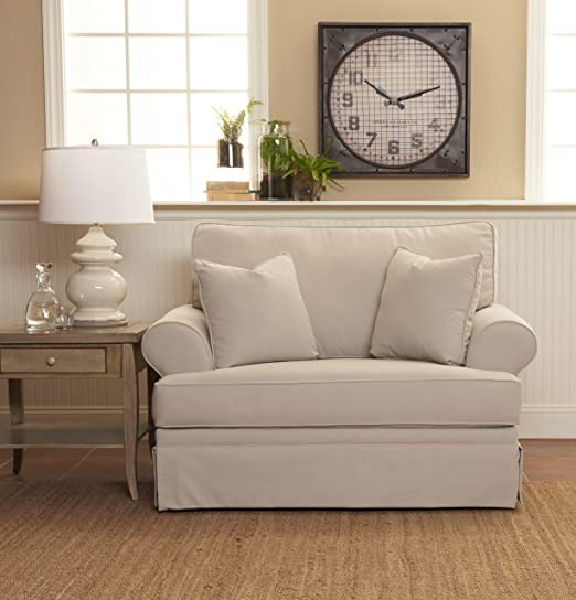 Amazon.com: Klaussner Furniture Westlyn Oversized Chair with Throw .