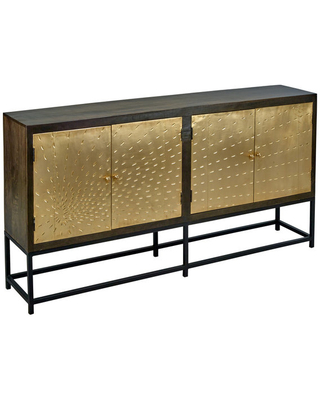 """Get Ahold of Fantastic Deals on 80"""" Narrow Sideboard Brass (Gold ."""