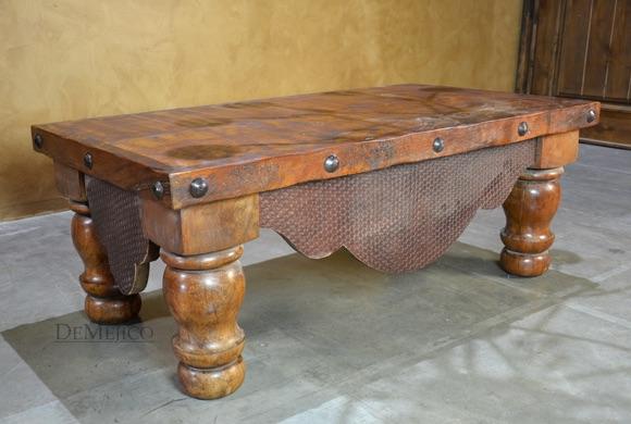 Alamo Cincel Rustic Spanish Coffee Table - Demeji