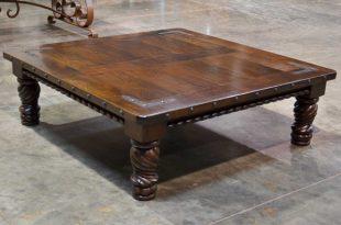 Indonesia Spanish Carved Coffee Table Cuadrada - Demeji
