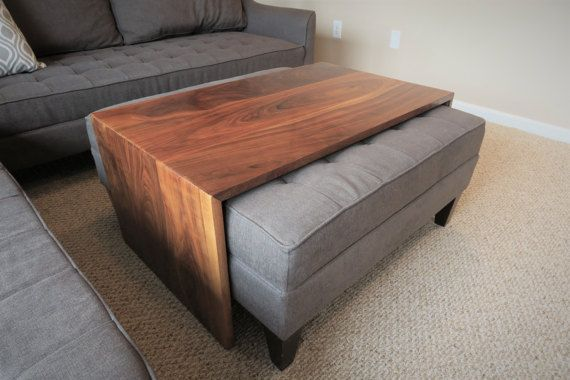 This handcrafted waterfall design coffee table is designed to fit .