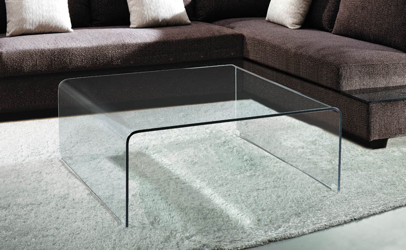Viva Modern Arch Square Coffee Table | Glass | Living Room .