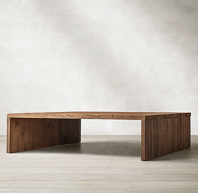 Oak Br l Waterfall Square Coffee Table | Coffee table square .