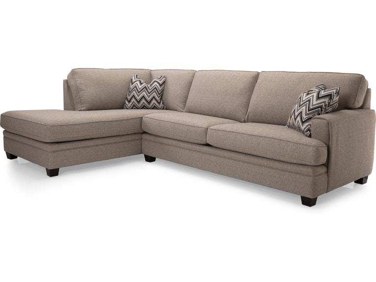 Decor-Rest Living Room 2697-Sectional - Hennen Furniture - St .