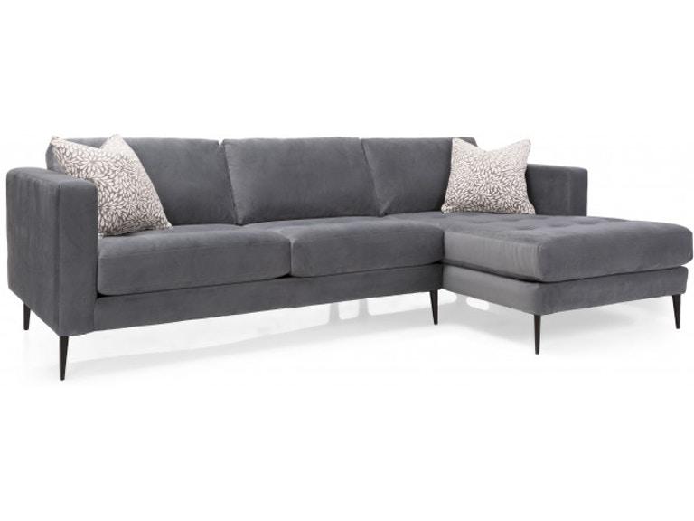 Decor-Rest Living Room 2795-Sectional - Hennen Furniture - St .