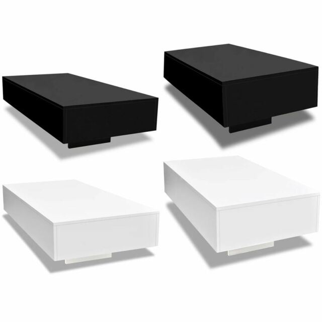 Luxe Stacked Domino Game Coffee Table Accent Black White Retro .