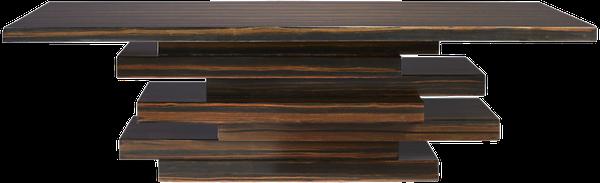 stack hi-gloss wood coffee table | Decori