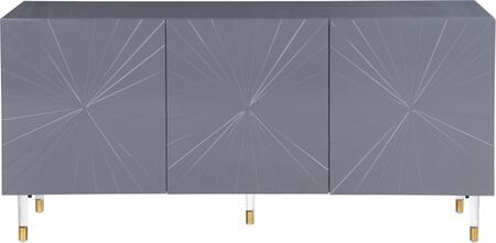 Meridian Starburst Collection 317 64 Inch Sideboard with 3 Doors .