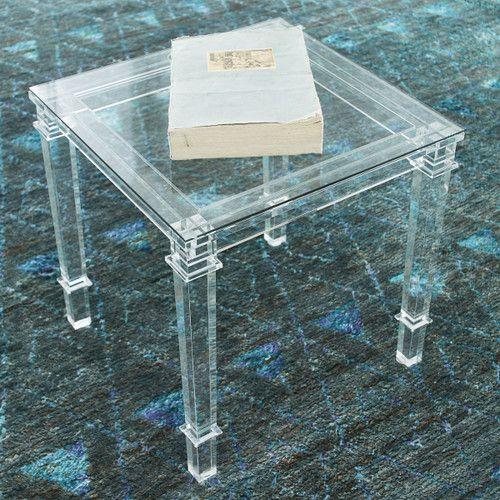 Stately Acrylic Side Table - Modern Acrylic Straightforward .