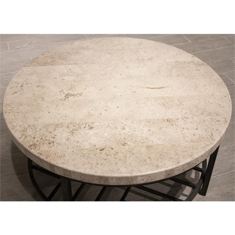 "Riverside Furniture Capri 36 ""Runde Steintopf Kaffee Tab"
