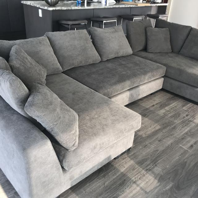 Find more Structube Cooper Grey Modular Sectional Sofa for sale at .