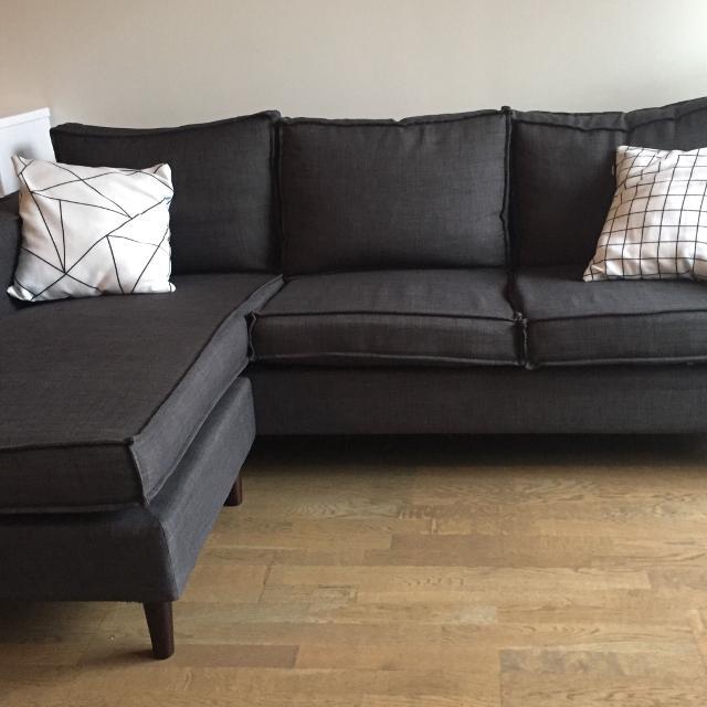 Best Structube York Dark Grey Sectional Sofa for sale in Brockton .