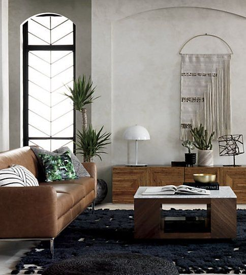 Suspend II Marble and Wood Coffee Table + Reviews | Living room .