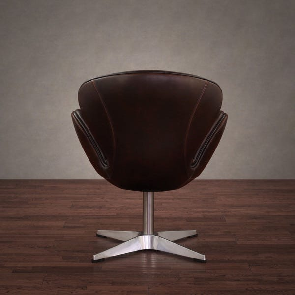 Shop Amelia Vintage Tobacco Leather Swivel Chair - Overstock - 79512